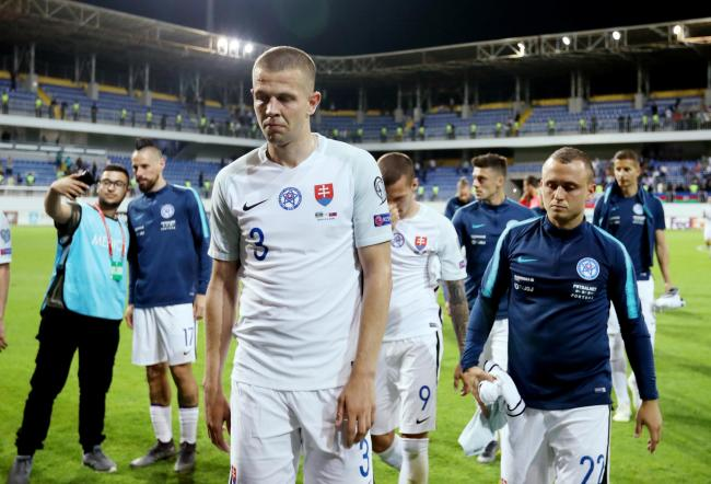 Denis Vavro on international duty with Slovakia. Picture: Action Images