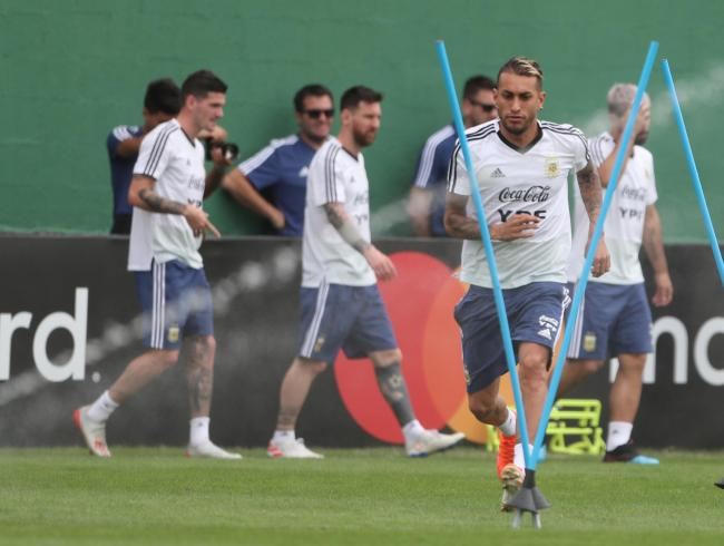 Roberto Pereyra during training at the Copa America. Picture: Action Images