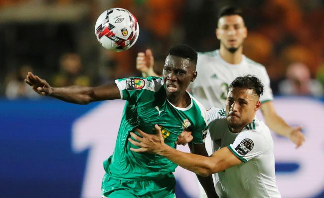 Ismaila Sarr in action in the Africa Cup of Nations final against champions Algeria. Picture: Action Images