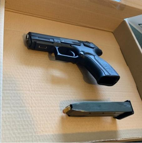 Two firearms and ammunition were obtained in Stanmore Credit: Met Police
