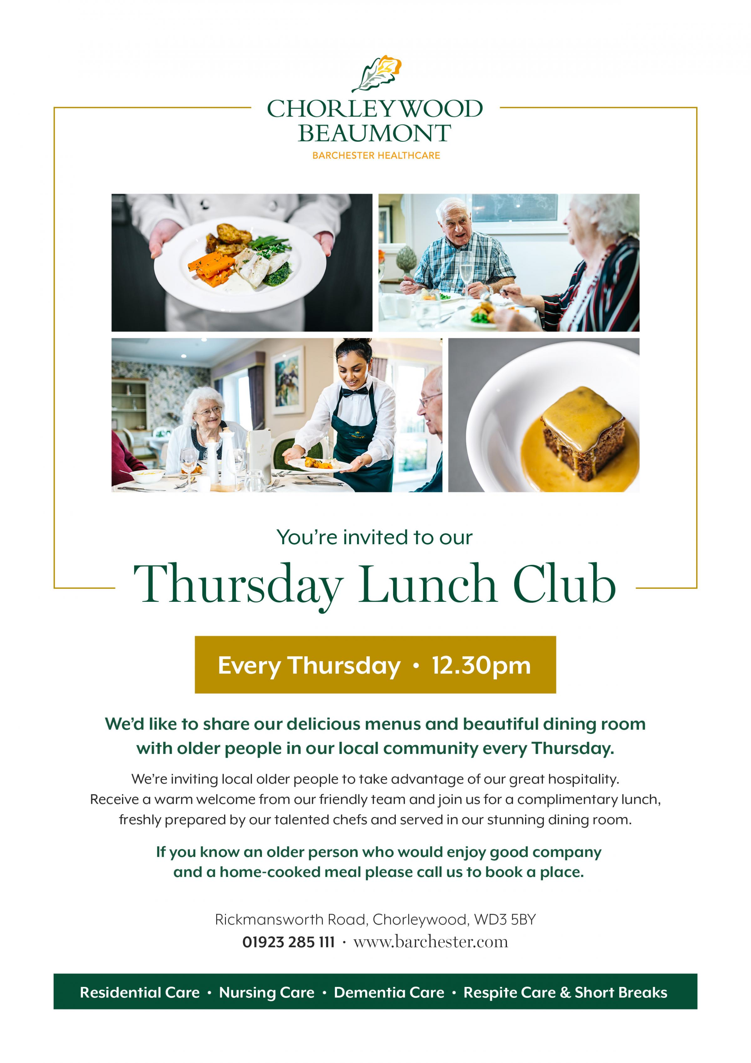 Thursday Lunch Club