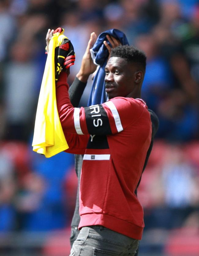 Ismaila Sarr is presented to the Watford fans before their Premier League match against Brighton & Hove Albion. Picture: Action Images