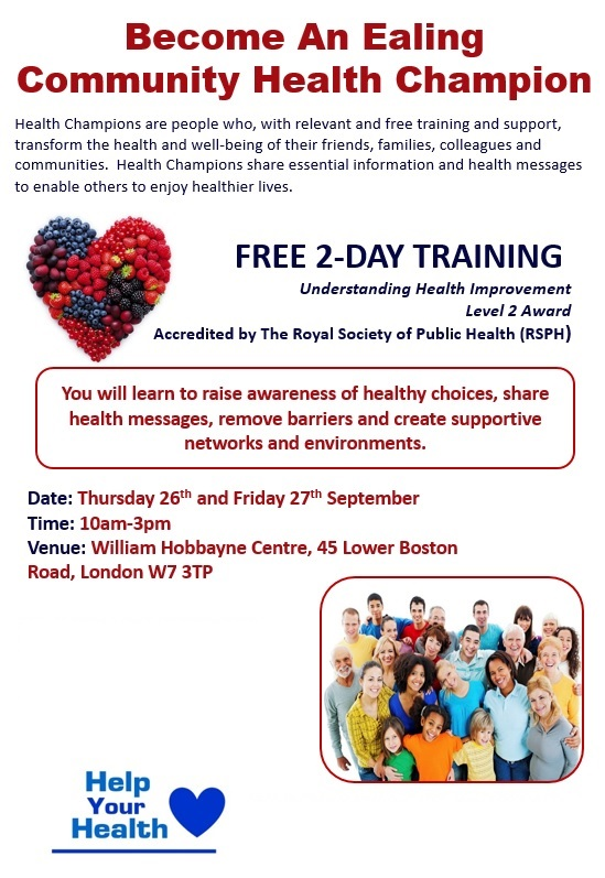 Become an Ealing Community Health Champion