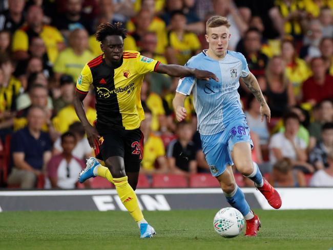 Domingos Quina against Coventry in the Carabao Cup. Picture: Action Images