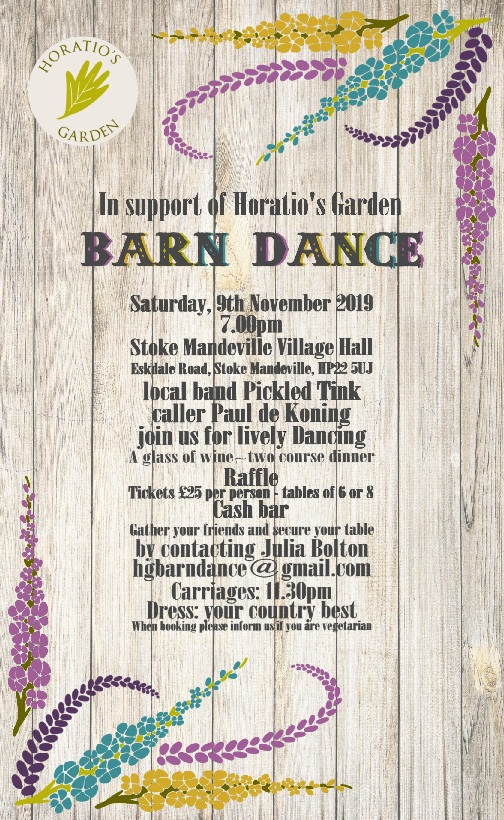 Barn Dance in support of Horatio's Garden