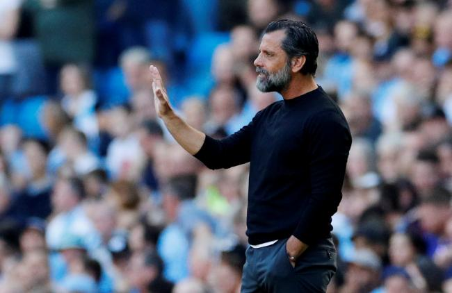 Quique Sanchez Flores during the defeat to Manchester City. Picture: Action Images