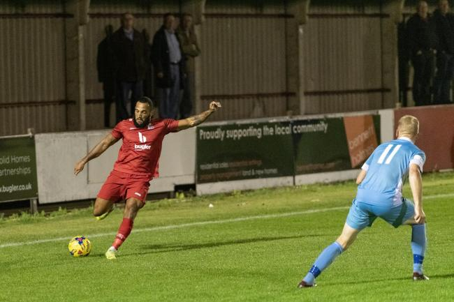 Harrow Borough were defeated by Truro City in the Southern League Premier Division South. Picture: Bruce Viveash