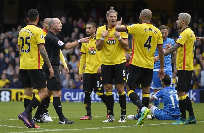Mike Dean refereed the game between Watford and Bournemouth in the 16/17 season. Picture: Action Images