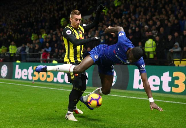 Antonio Rudiger is challenged by Gerard Deulofeu in last season's clash between the two sides at Vicarage Road. Picture: Action Images