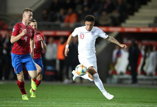 Jadon Sancho in action for England. Picture: Action Images