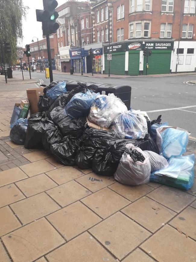 Bags of rubbish were building up on the pavement (Photo: #Fixit Harrow Network)