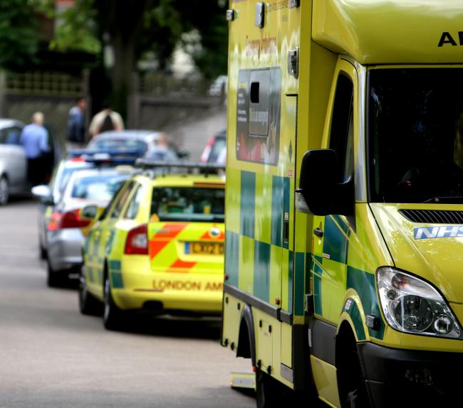 A firework was hurled at an ambulance which was rushing to an emergency. Photo: Ken Mears