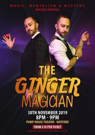 The Ginger Magician: Magic and Comedy | November 30 2019