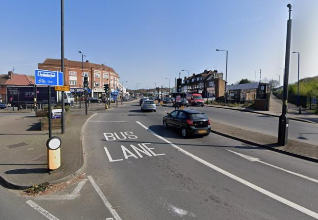 The bus lane in Northolt Road (Photo: Google Maps)
