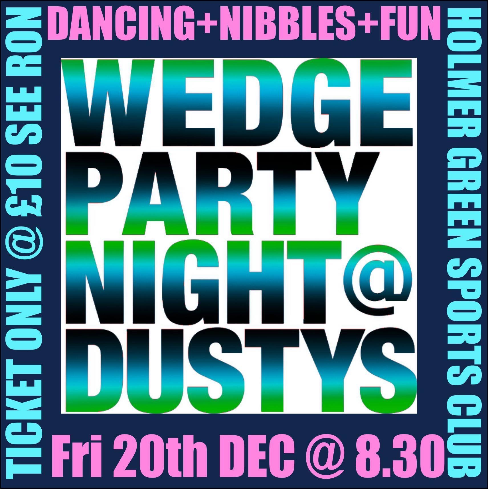 Wedge Christmas Party Night at Holmer Green Sports Association