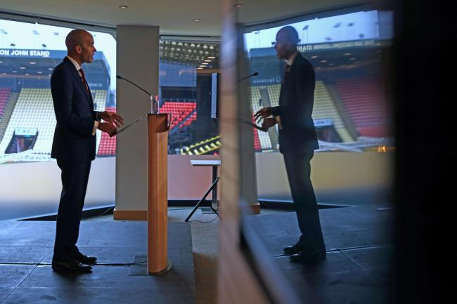 Chuka Umunna gives a speech on the Liberal Democrat foreign policy at Watford Football Club, WatfordPhoto credit: Aaron Chown/PA Wire