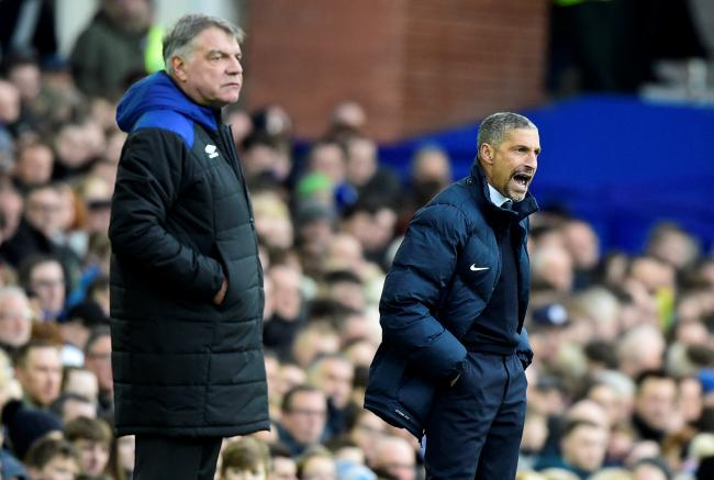 Sam Allardyce and Chris Hughton have both been linked with the vacant job. Picture: Action Images