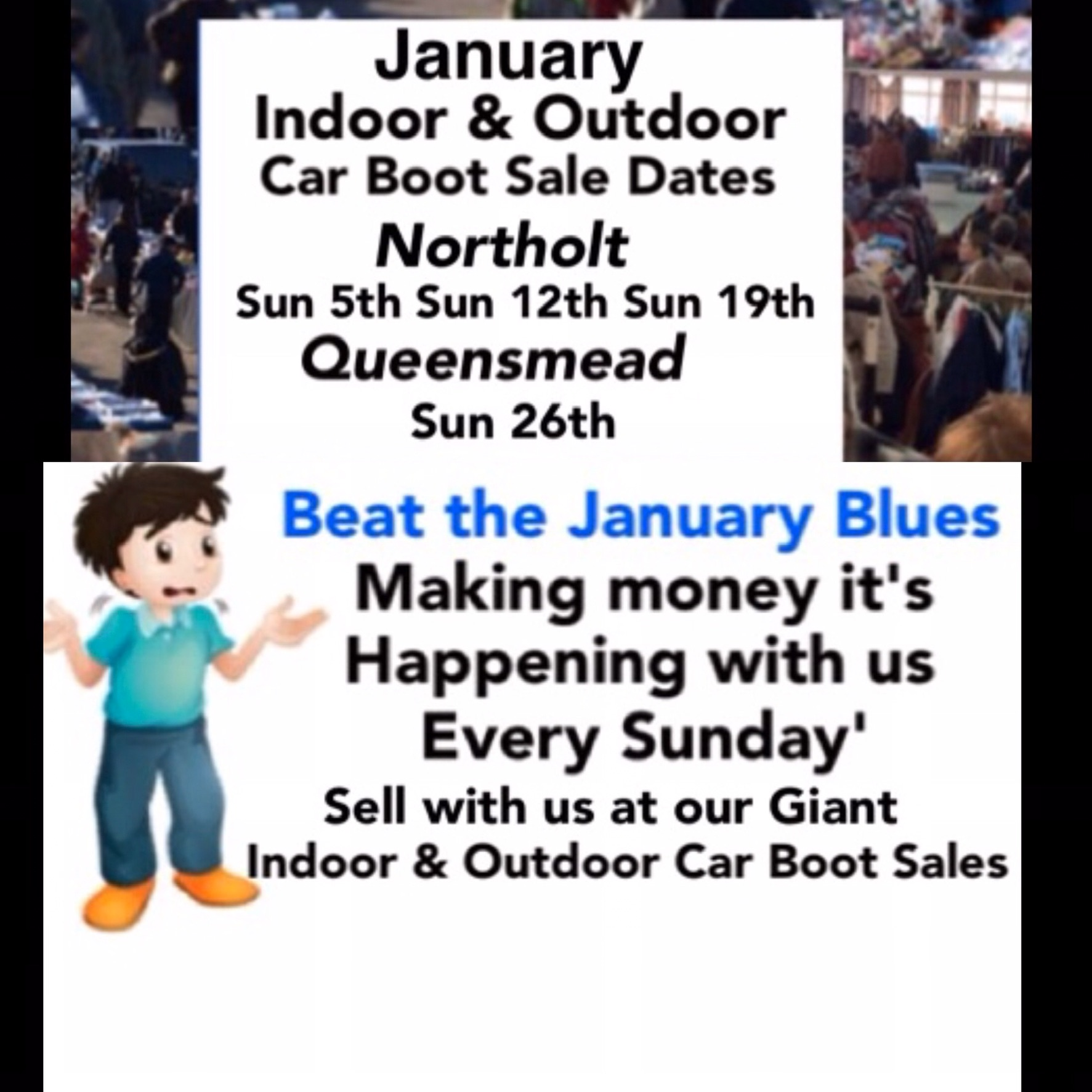Northolt Giant Indoor & Outdoor Car Boot Sale