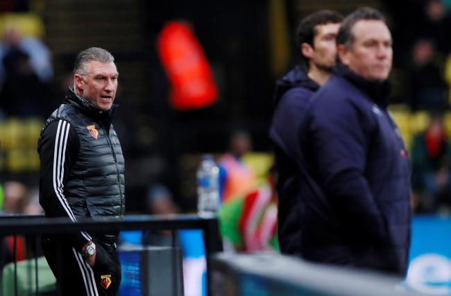Nigel Pearson during Watford's game with Tranmere at Vicarage Road. Picture: Action Images