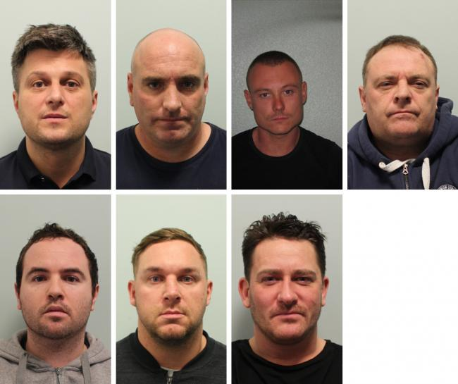 Left to right: Piper, Oldfield, Luciano, Holland, Doherty, Davies, Beeton  (Photo: Met Police)