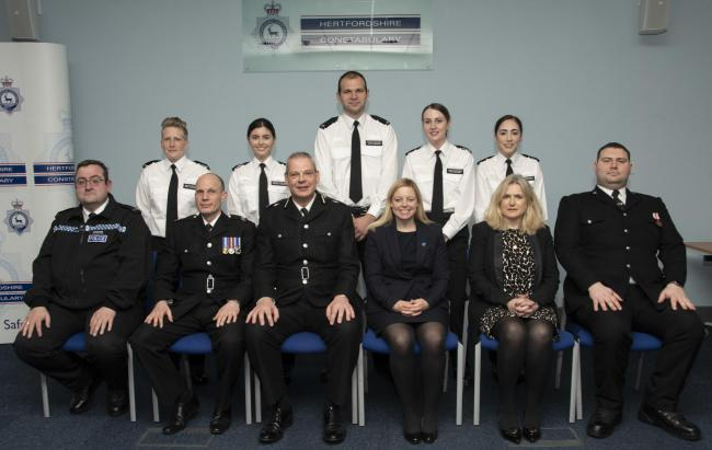 Five new officers have joined the force. (Photo: Hertfordshire Constabulary)