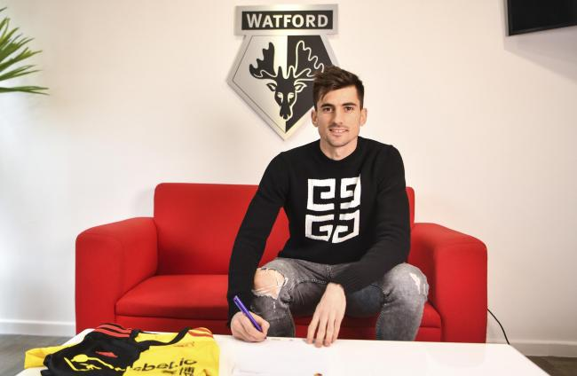 Ignacio Pussetto signed for Watford on Tuesday. Picture: Sol Tomlinson/Watford FC