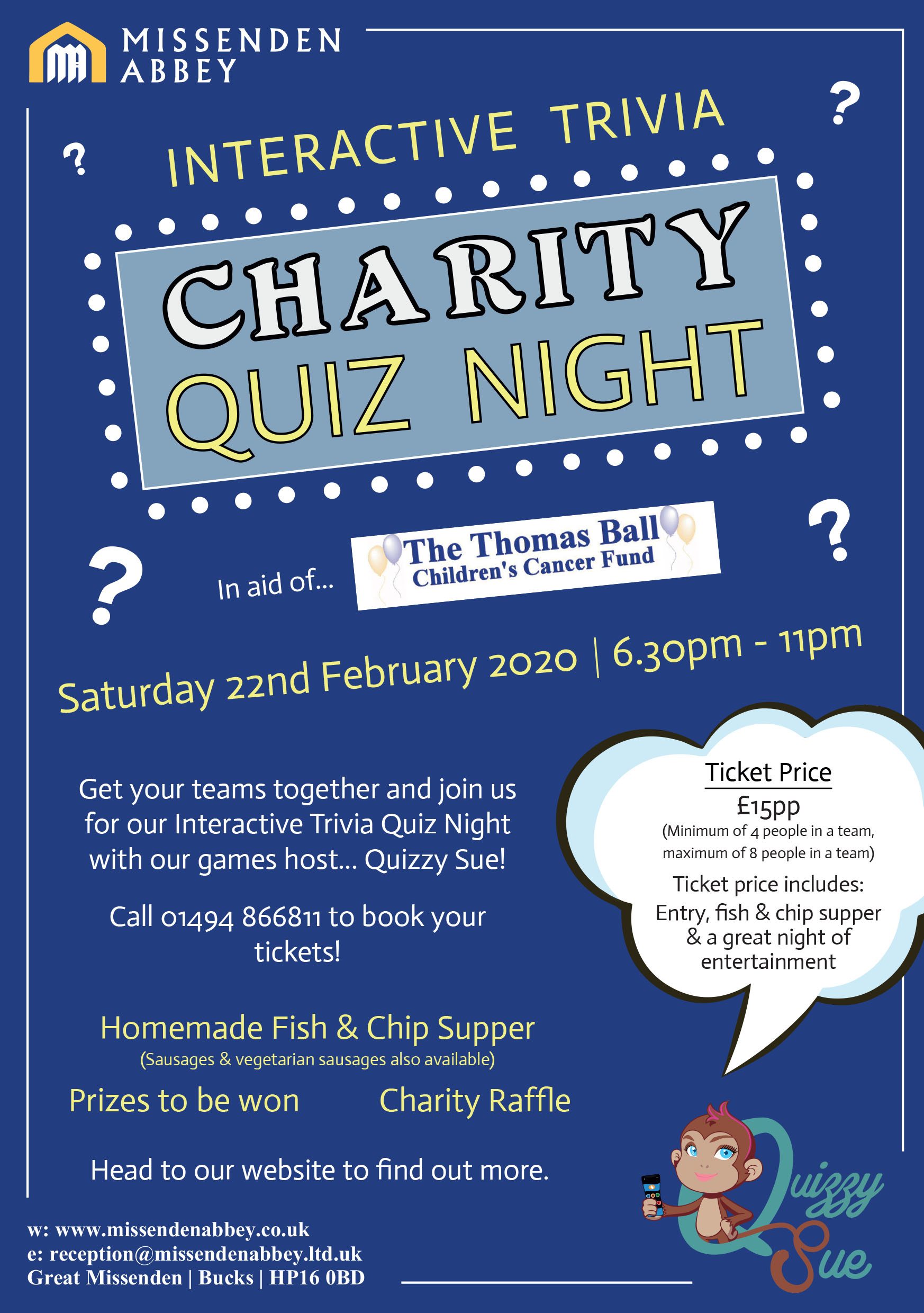 Missenden Abbey Interactive Trivia Charity Quiz Night