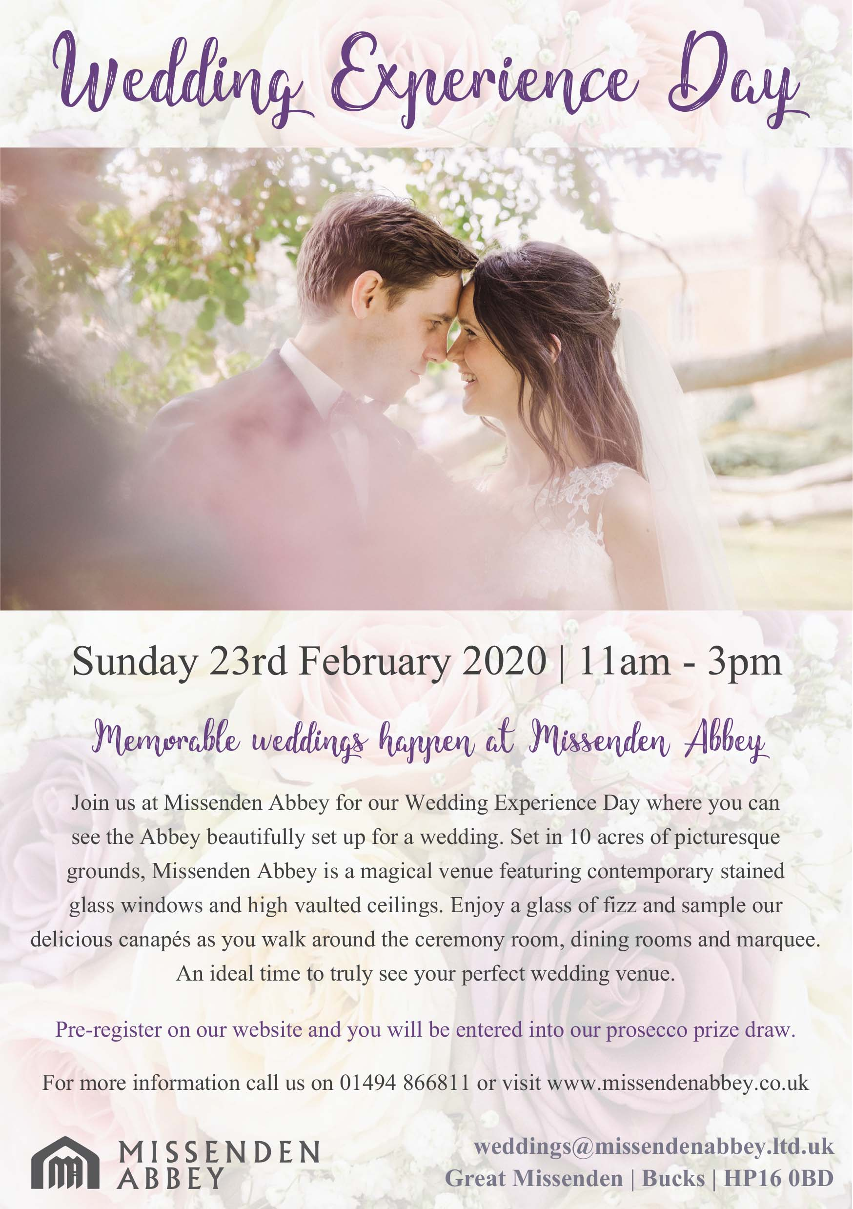 Missenden Abbey Wedding Experience Day