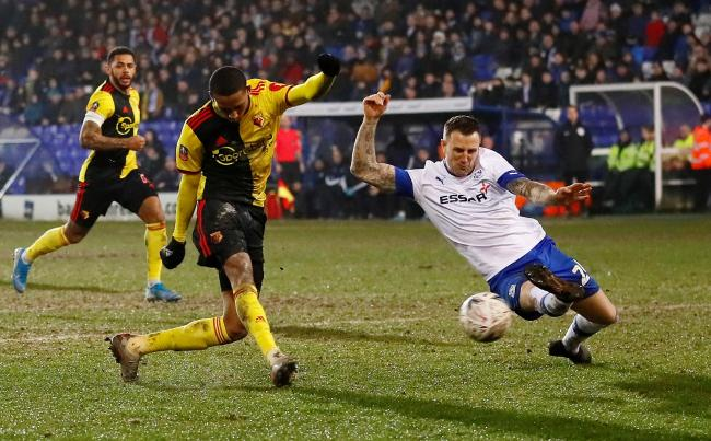 Joao Pedro in action in Watford's FA Cup third round replay defeat at Tranmere Rovers. Picture: Action Images