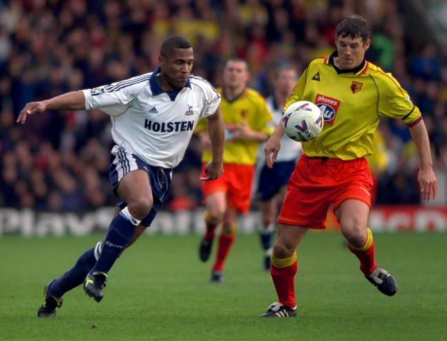 Les Ferdinand in action against Watford. Picture: Action Images