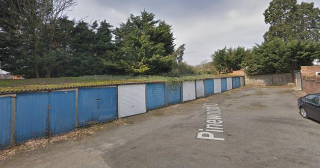 The garages in Pinewood Close (Photo: Google Maps)