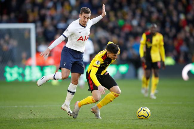 Ignacio Pussetto in his Watford debut against Spurs. Picture: Action Images