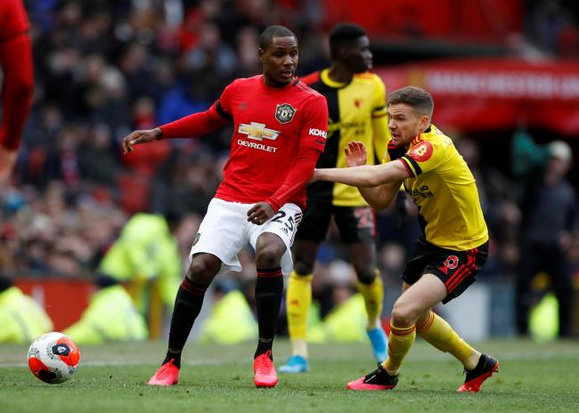 Odion Ighalo playing for Manchester United against Watford. Picture: Action Images