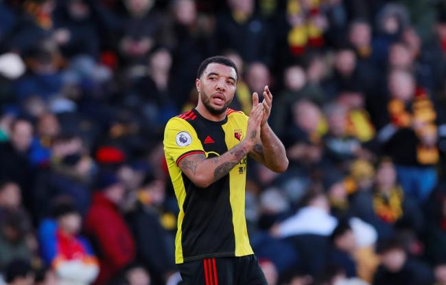 Troy Deeney is raffling his shirt for charity. Picture: Action Images