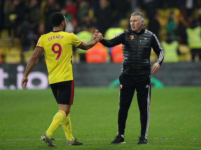 Nigel Pearson and Troy Deeney, Picture: Action Images
