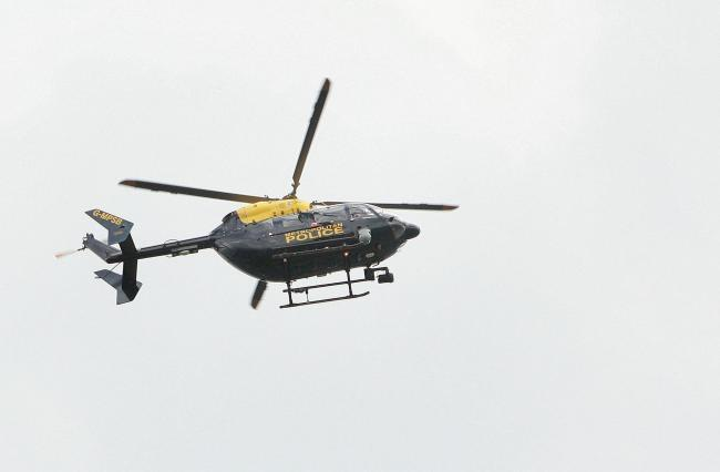 A police helicopter was delpoyed to Abbots Langley