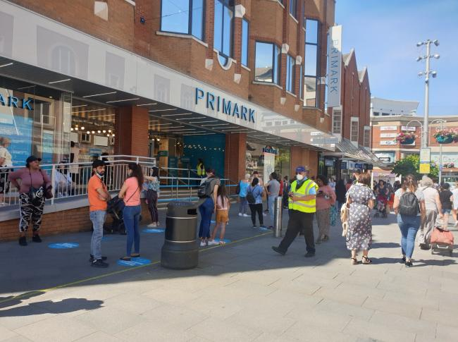 Social distancing measures were in place throughout the week (Photo: Harrow BID)