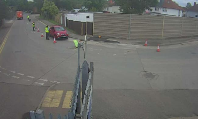 Footage outside the recycling centre on June 29 (Photo: Harrow Council)