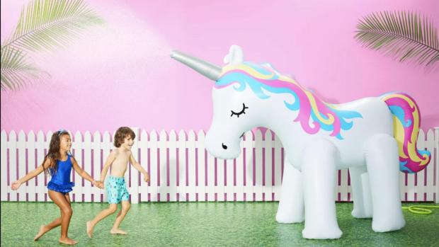 Harrow Times: This unicorn sprinkler looms above kids, but it's a good size for adults, too. Credit: Sun Squad