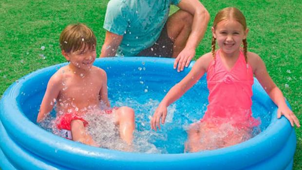 Harrow Times: Lower your body temp with this inflatable pool. Credit: Intex
