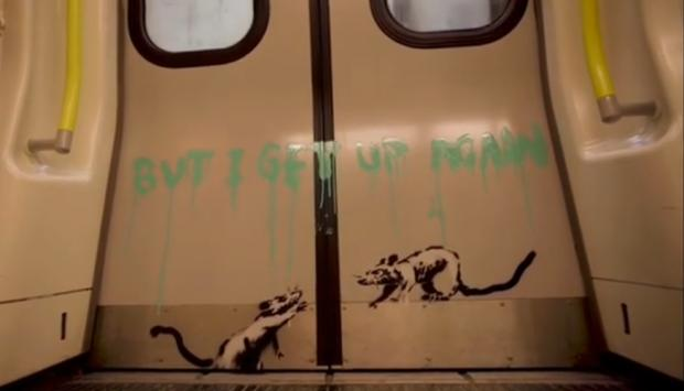 Harrow Times: 'I get locked down, but I get up again': Banksy's positive message to London (Photo: Banksy).
