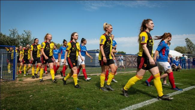 Watford Ladies played in their first match since March. Picture: Andrew Waller