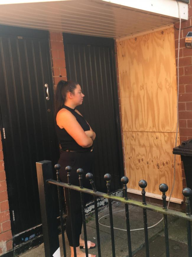 Mum's frustration that she is not allowed to replace her front door after fire