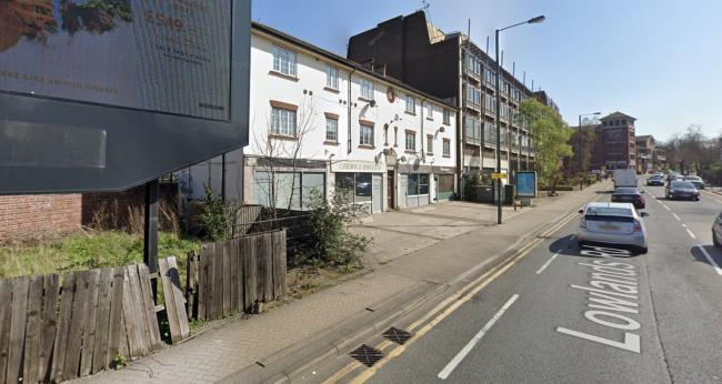 The site of the proposed co-living block in Lowlands Road (Photo: Google Maps)