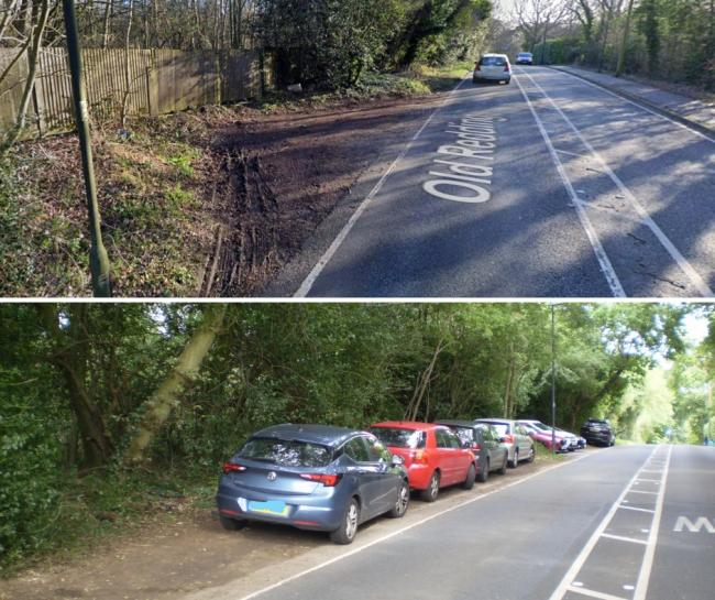 The space concerned (top) and other drivers using similar sites (Photo: Google Maps/Jeff Jones)