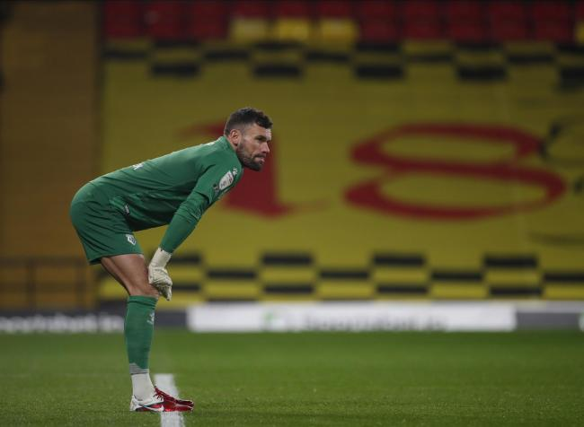 Ben Foster was disappointed with Coventry's first goal. Picture: Action Images