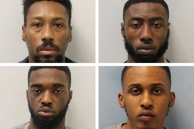 Rene Montaque (top left) Karlos Gracia (top right) Taalib Rowe (bottom left) and Alhassan Jalloh (bottom right) have been jailed in connection with the murder of Kwasi Mensah-Ababio. Credit: Met Police