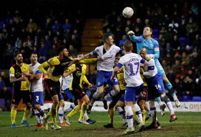 Watford lost away at Tranmere in a third round replay last season. Picture: Action Images