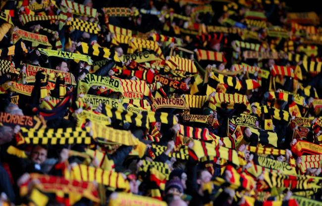 Watford fans raise their scarves for last season's Graham Taylor scarf matchday. Picture: Action Images