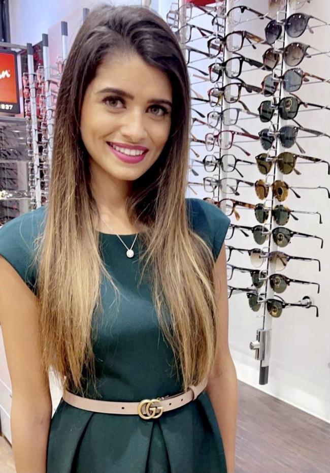 Roshni Dalia, the owner of Notting Hill Gate Opticians